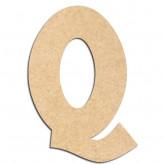 Lettre en bois à décorer Q - Alphabet Treasure