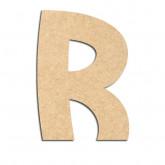 Lettre en bois à décorer R - Alphabet Treasure