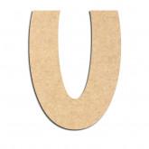 Lettre en bois à décorer U - Alphabet Treasure