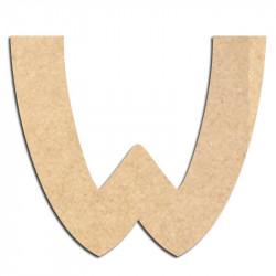 Lettre en bois à décorer W - Alphabet Treasure