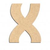 Lettre en bois à décorer X - Alphabet Treasure