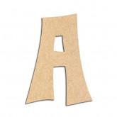 Lettre en bois à décorer A - Alphabet VTC
