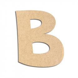 Lettre en bois à décorer B - Alphabet VTC