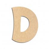 Lettre en bois à décorer D - Alphabet VTC