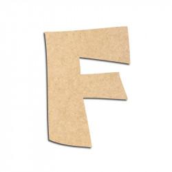 Lettre en bois à décorer F - Alphabet VTC
