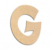 Lettre en bois à décorer G - Alphabet VTC