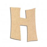 Lettre en bois à décorer H - Alphabet VTC