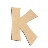 Lettre en bois à décorer K - Alphabet VTC
