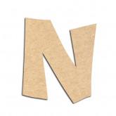 Lettre en bois à décorer N - Alphabet VTC