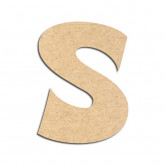 Lettre en bois à décorer S - Alphabet VTC