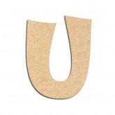 Lettre en bois à décorer U - Alphabet VTC