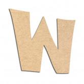 Lettre en bois à décorer W - Alphabet VTC