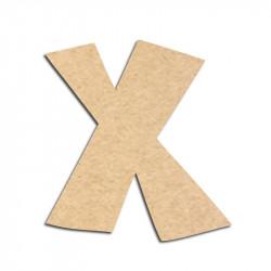 Lettre en bois à décorer X - Alphabet VTC