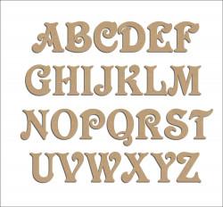Lettre en bois à décorer  - Alphabet Victorian