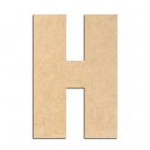 Lettre en bois à décorer H- Alphabet Basic