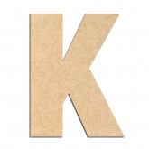 Lettre en bois à décorer K- Alphabet Basic