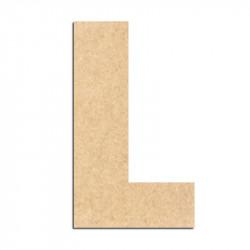 Lettre en bois à décorer L- Alphabet Basic L