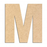 Lettre en bois à décorer M- Alphabet Basic