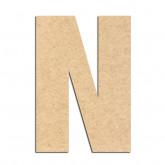 Lettre en bois à décorer N- Alphabet Basic