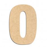 Lettre en bois à décorer O- Alphabet Basic