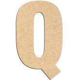 Lettre en bois à décorer Q- Alphabet Basic