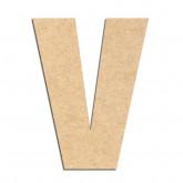 Lettre en bois à décorer V- Alphabet Basic