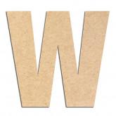 Lettre en bois à décorer W- Alphabet Basic