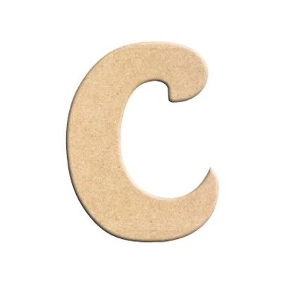 lettre c peindre d corer lettre en bois brut lettre bois. Black Bedroom Furniture Sets. Home Design Ideas
