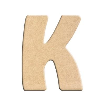 lettre k peindre d corer lettre en bois brut lettre bois. Black Bedroom Furniture Sets. Home Design Ideas