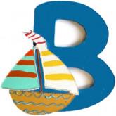 Lettre en bois B comme bateau