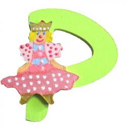 Lettre en bois P comme princesse