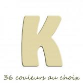 Lettre en bois peinte K