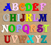 Lettres en bois peinte «Victorian»
