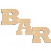 Mot en bois Bar