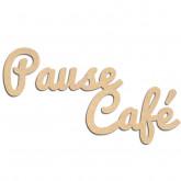 Mots en bois Pause café