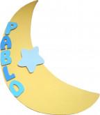 Plaque de porte lune et étoile