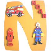 Plaque de porte pompier