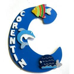 Plaque de porte animaux de la mer