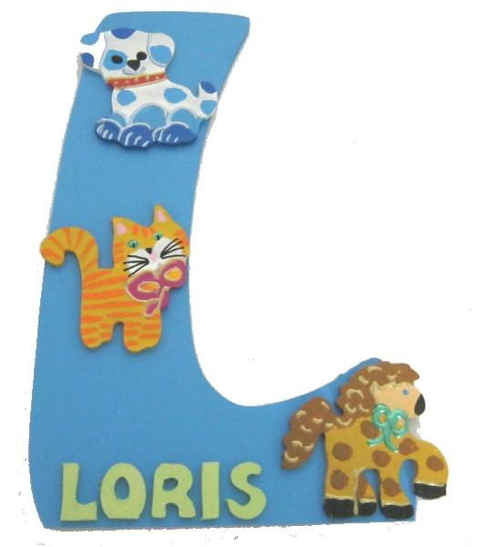 Plaque de porte bois pr nom d cor animaux lettre bois - Plaque de porte design ...