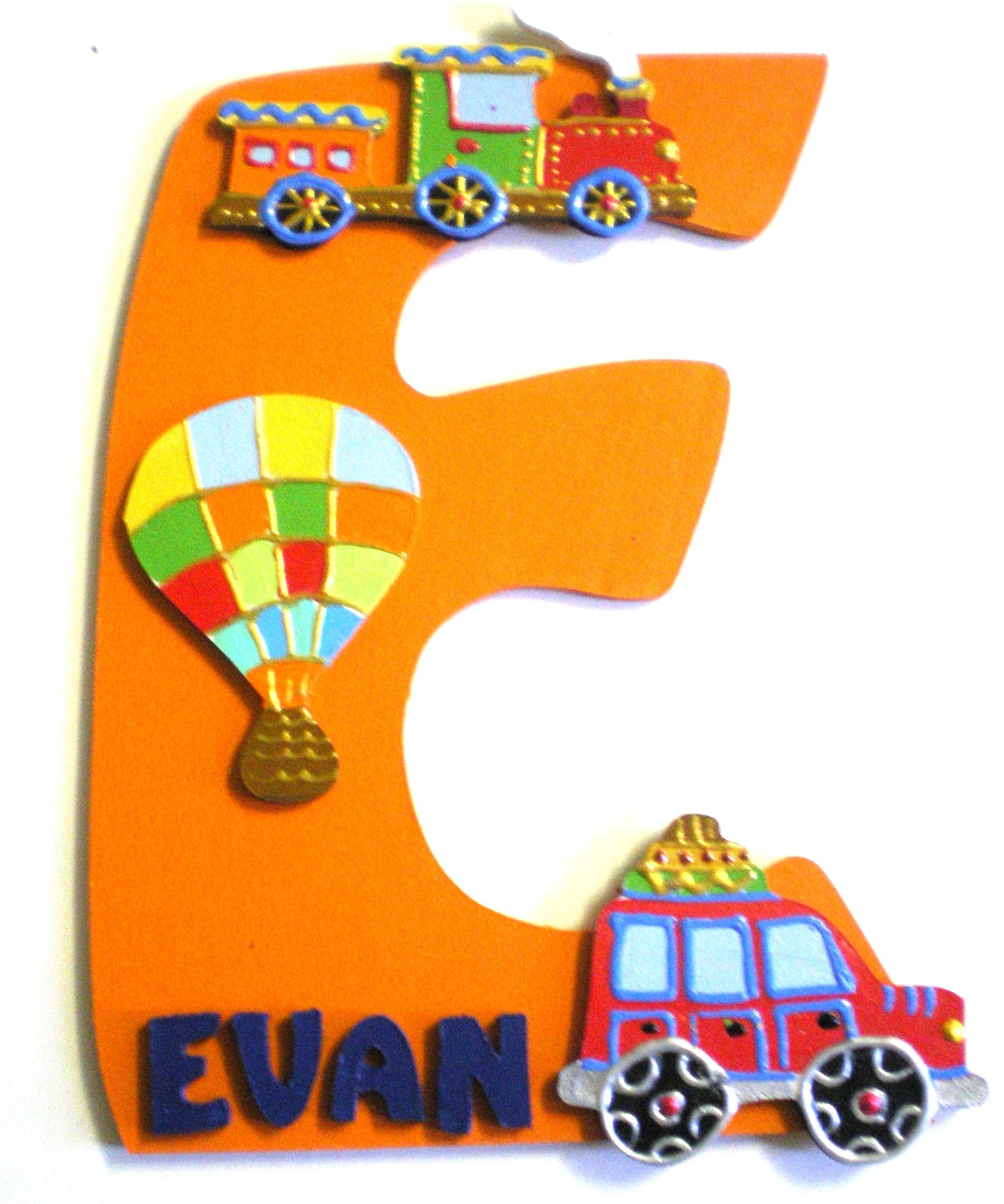Plaque de porte voyage train voiture lettre bois - Plaque de porte design ...