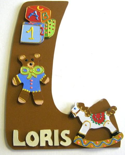 Plaque de porte enfant fille et gar on lettre bois - Plaque de porte design ...