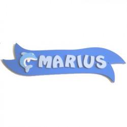 Plaque de porte ruban dauphin