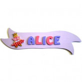 Plaque de porte ruban princesse