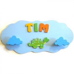 Portemanteau nuage dinosaure