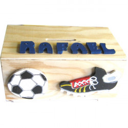 Tirelire en bois football