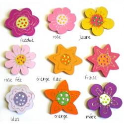 Motifs en bois fleurs