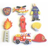 Motifs en bois pompier