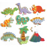 Motifs en bois dinosaures