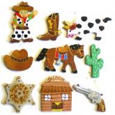Motifs en bois cowboy