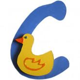 Lettre en bois C comme canard